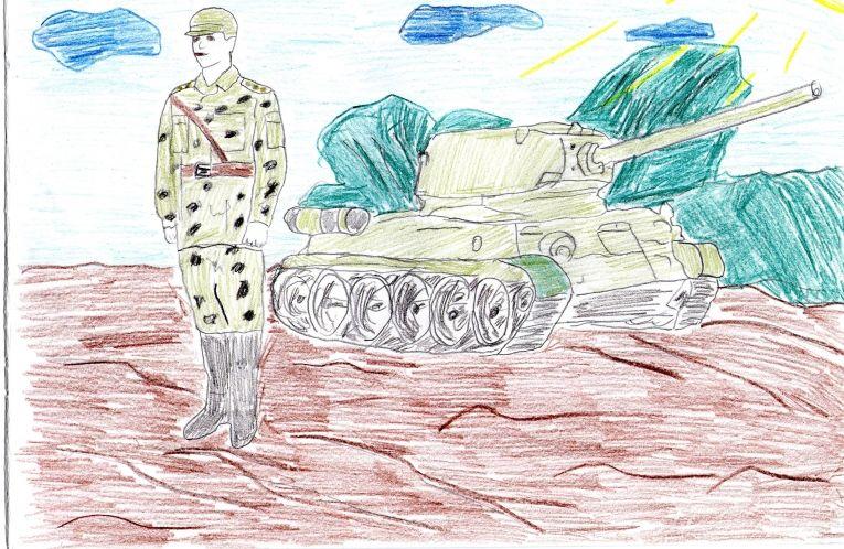 Служу России рисунок 11 фото