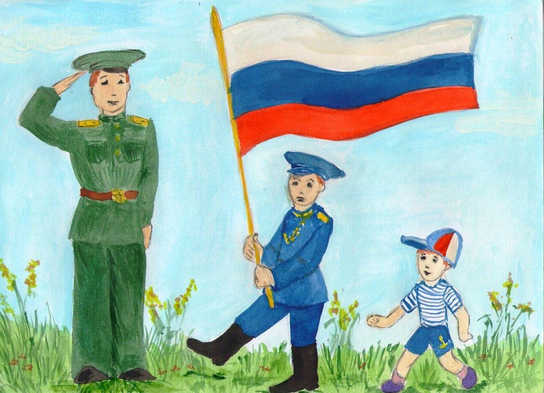 Служу России рисунок 6 фото