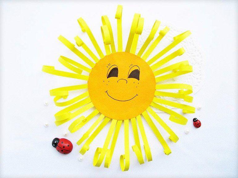 Аппликация солнце фото