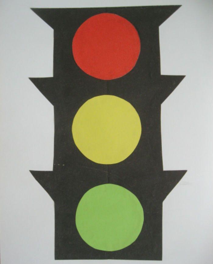 Аппликация светофор фото