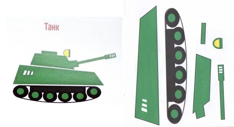 Аппликация танк шаблон фото