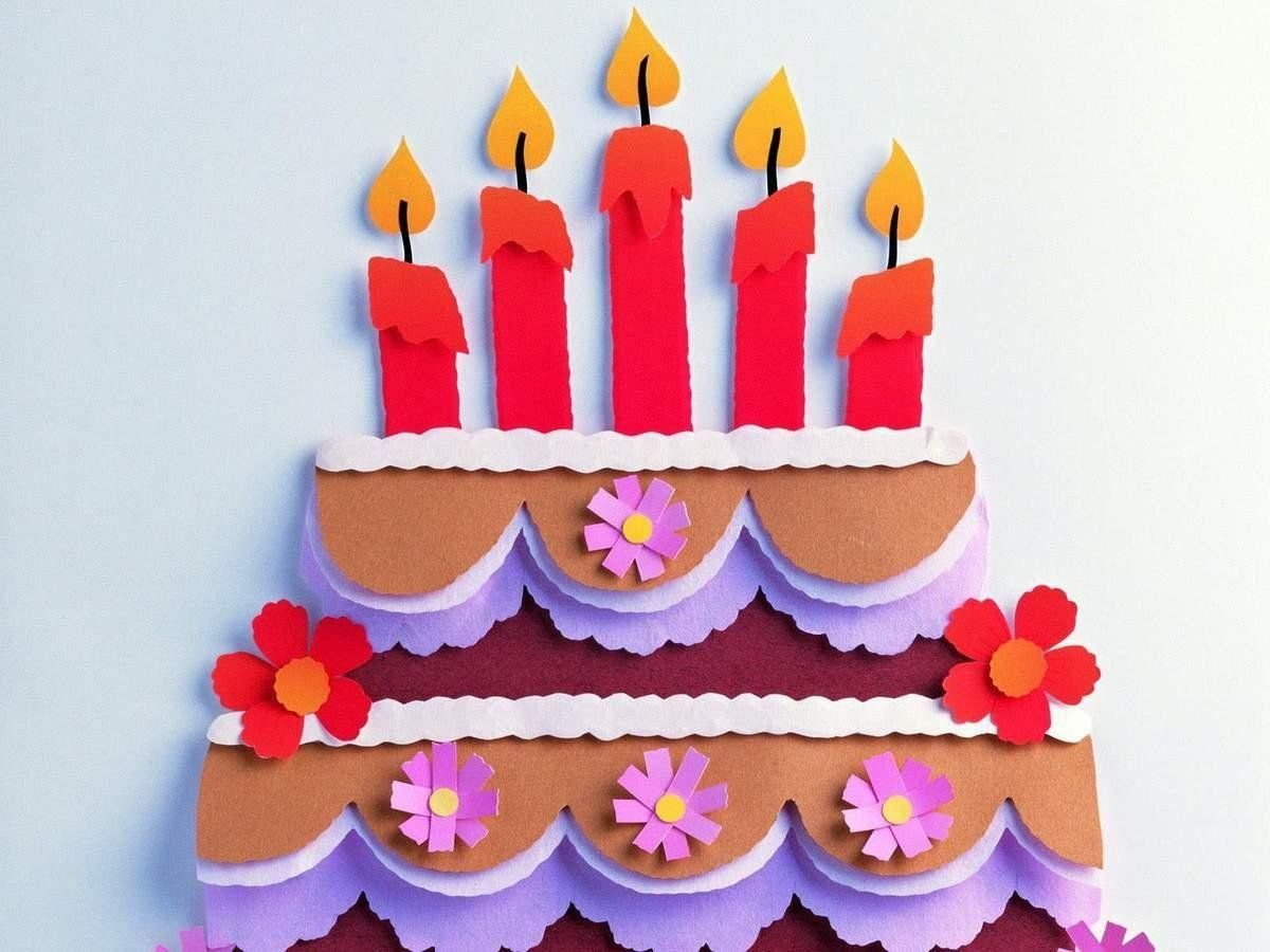 Аппликация торт фото