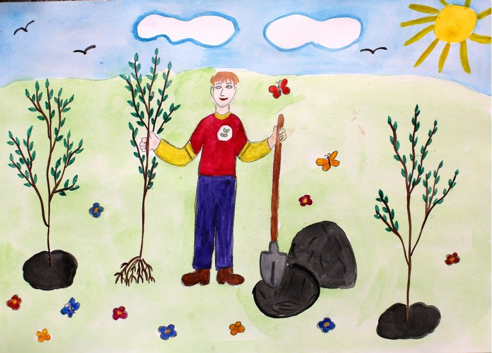 Защита  и охрана природы рисунок 12 фото