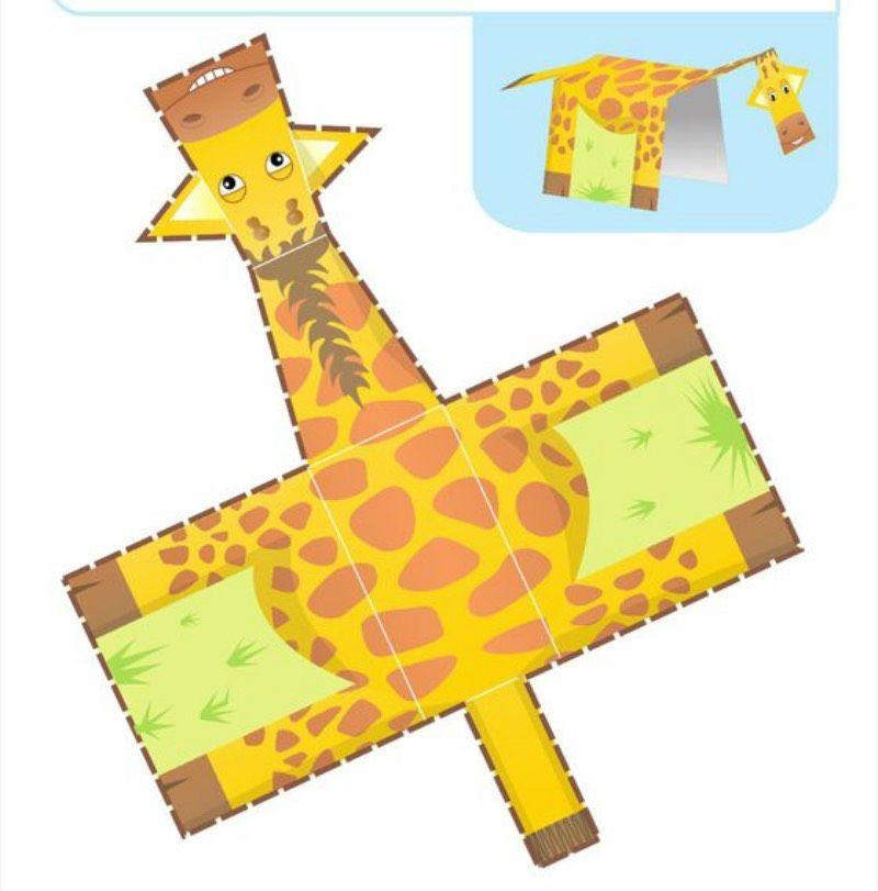 Аппликация жираф фото