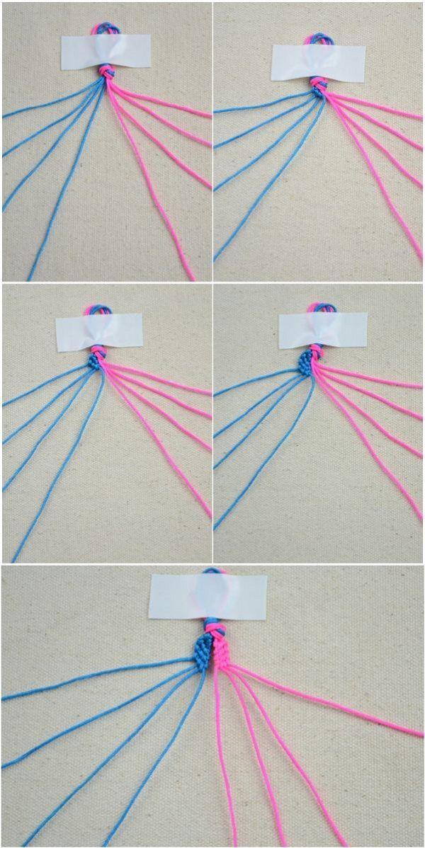 Начинаем плетение браслета фото