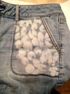 Отбеленные джинсы фото
