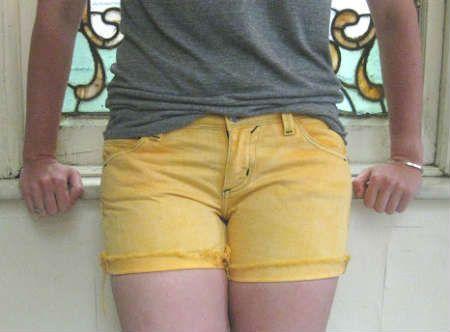 Готовые шорты после покраски фото