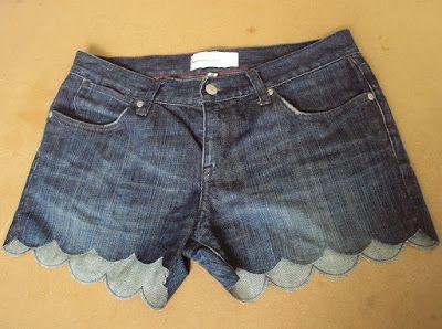 Готовые шорты с узором по краям фото