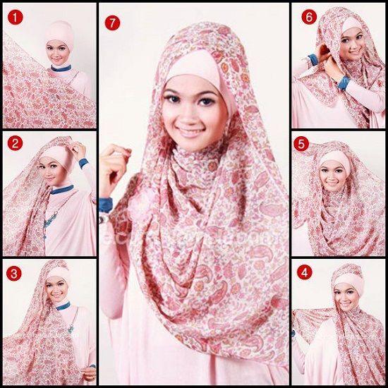 Третий способ завязывания хиджаба фото