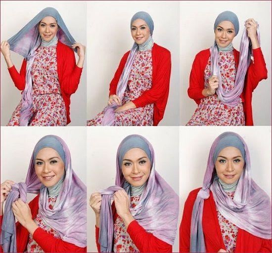 Четвертый способ завязывания хиджаба фото