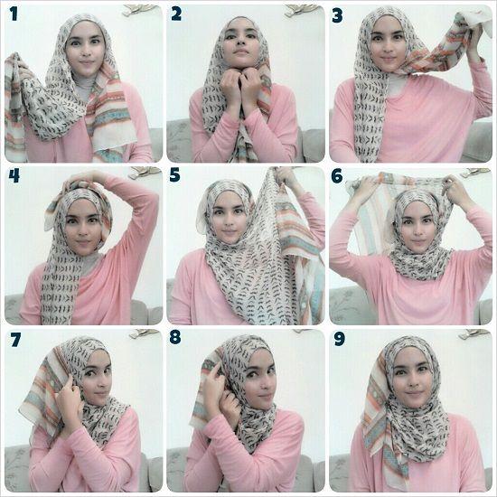 Способ завязывания хиджаба фото
