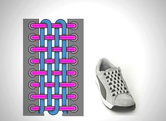 Шахматная шнуровка фото