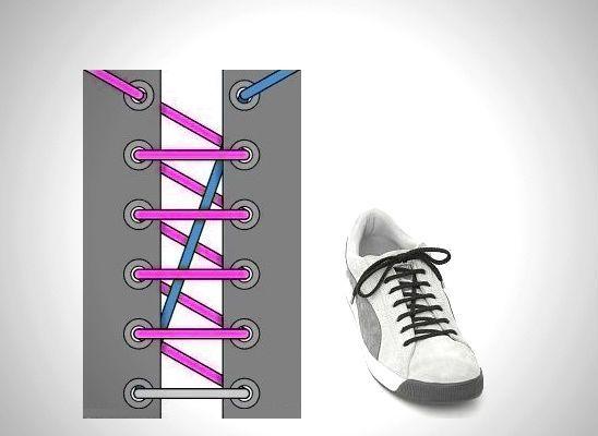 Спиралевидная шнуровка с длинной диагональю фото