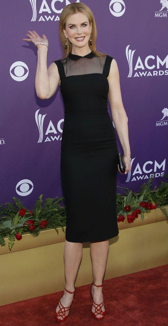 Американская актриса Николь Кидман тип фигуры колонна фото