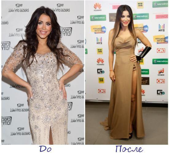 Ани Лорак фото до и после похудения