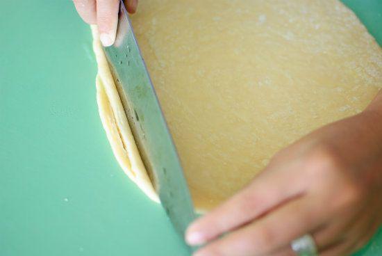 Режим раскатанное тесто на полоски фото