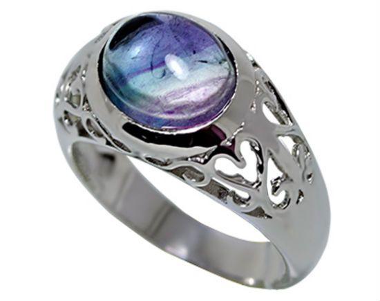 Кольцо с флюоритом фото