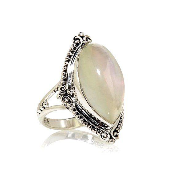 Кольцо с селенитом фото