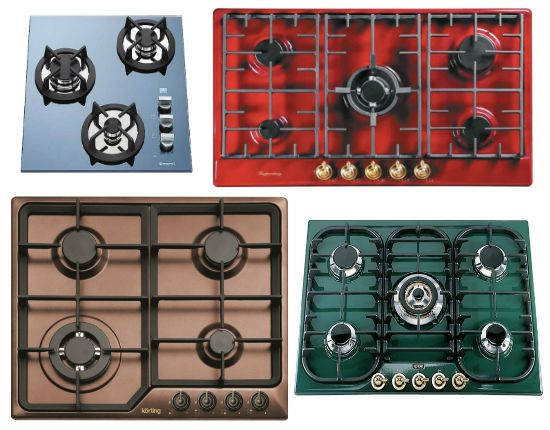 газовые варочные панели разный цветов фото
