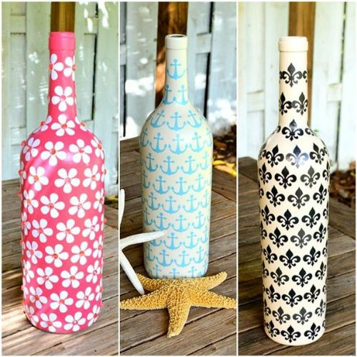 Бутылки для декора