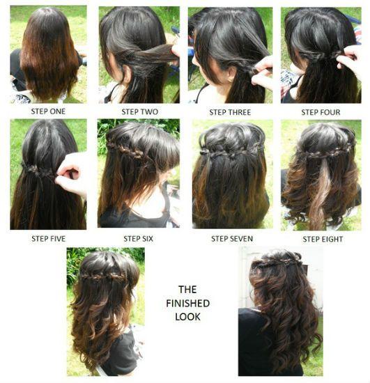 Для длинных волос вариант 2
