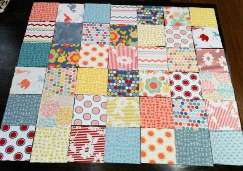 Лоскутное одеяло шаг 1