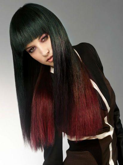 Омбре для длинных волос