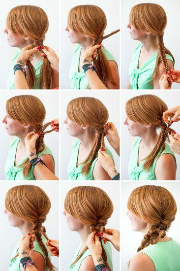 Плетение косичек на длинные волосы 3