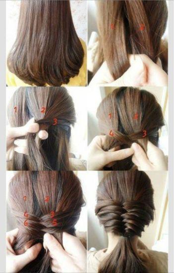 Плетение косичек на средние волосы 2