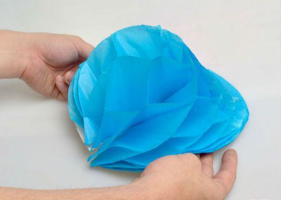 Помпон из бумаги способ 1 шаг 12