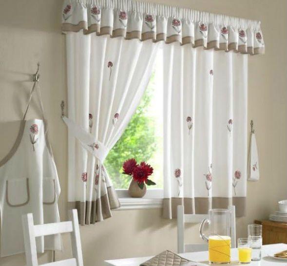 Идеи пошива кухонных штор 2