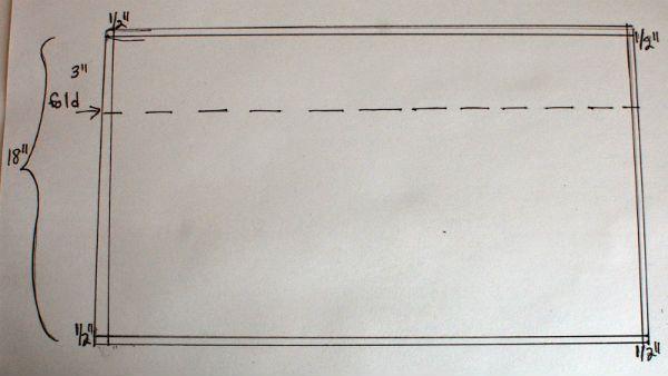 Пошив коротких штор шаг 1