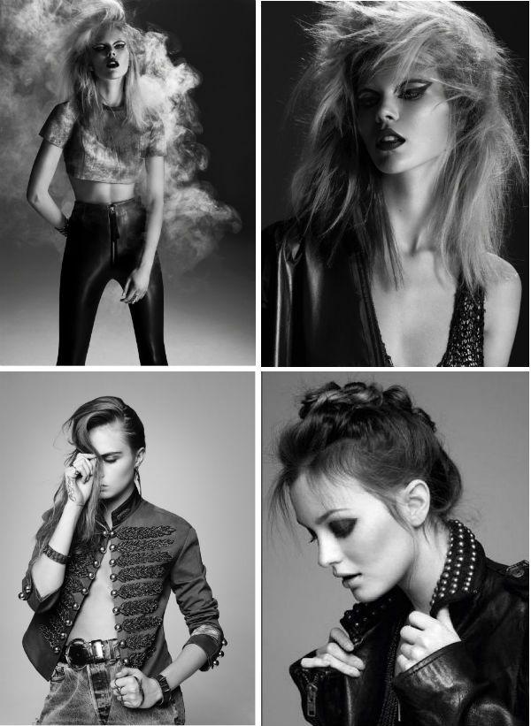 Черно-белый формат в фотосессии рок фото