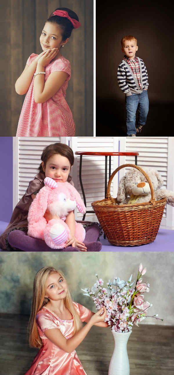Детская фотосессия в студии фото