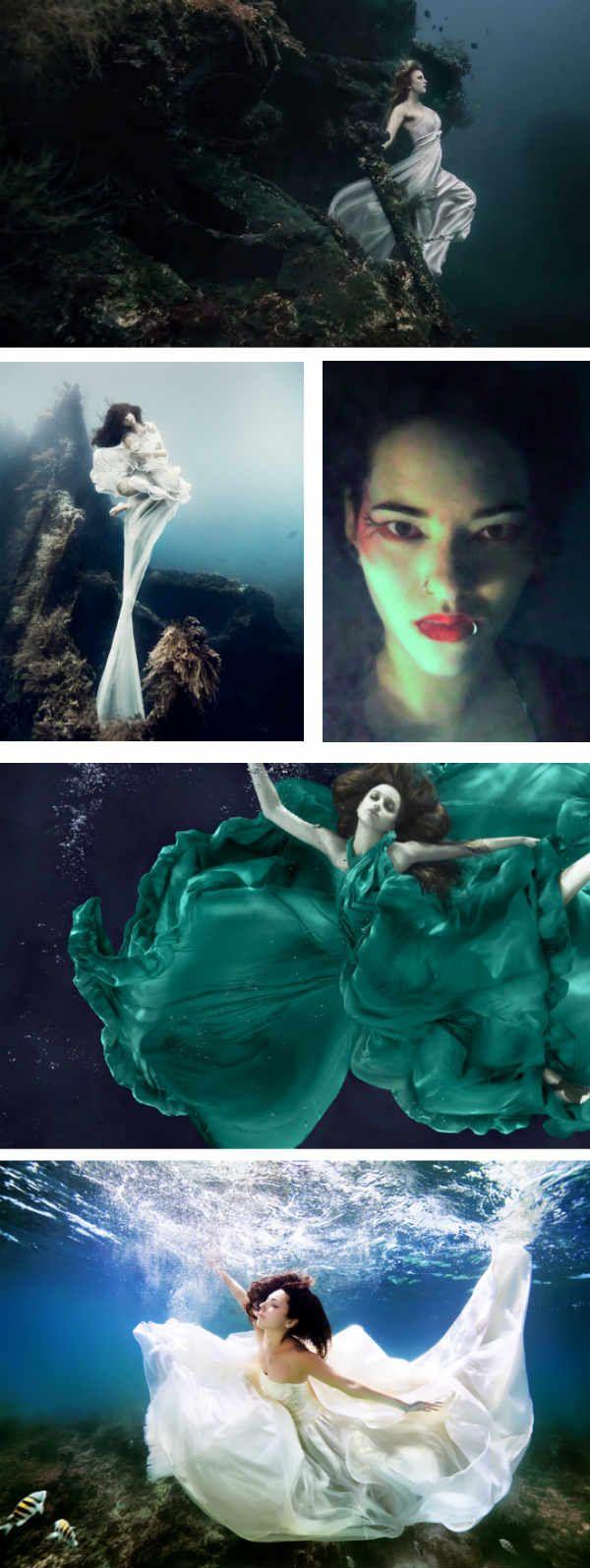 Фотосессия под водой фото