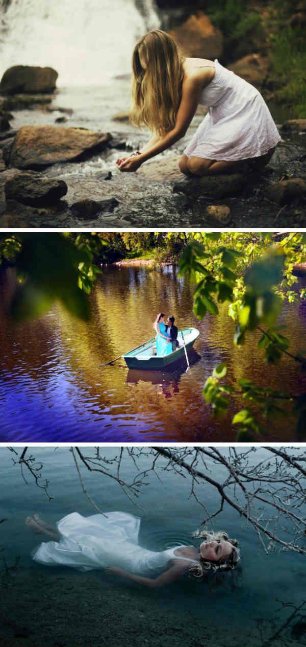 Идеи для летней фотосессии у водоема фото