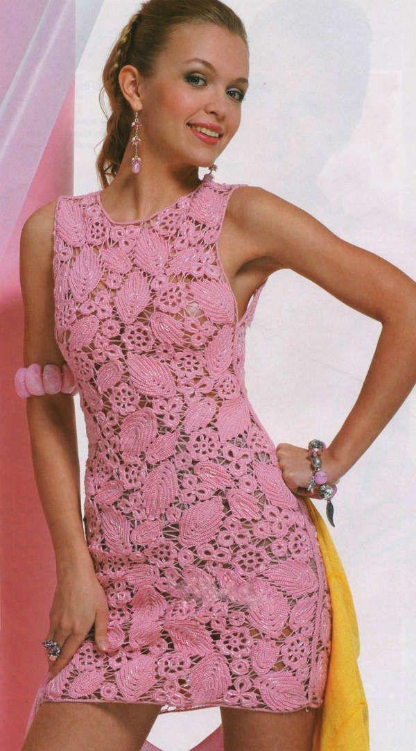 Филейное вязание платья фото