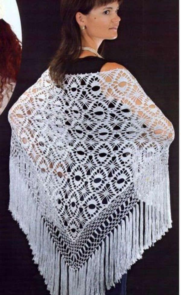 Вязание шали фото