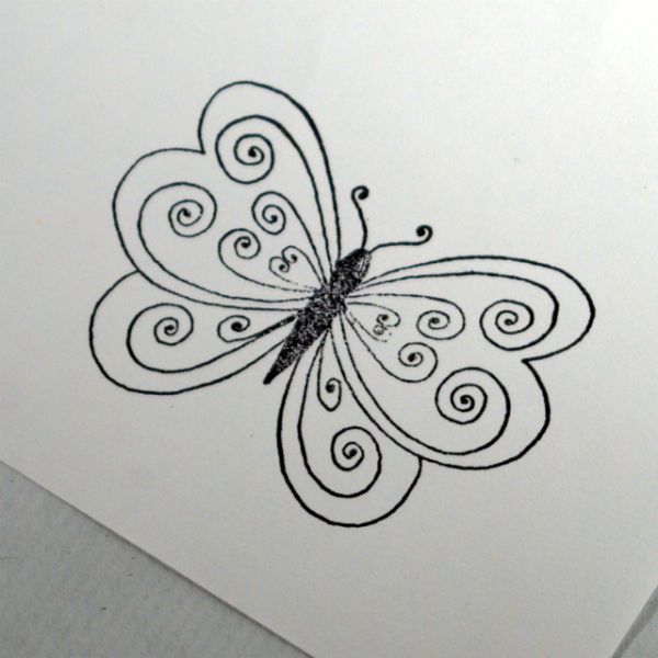 Рисуем шаблон бабочки фото