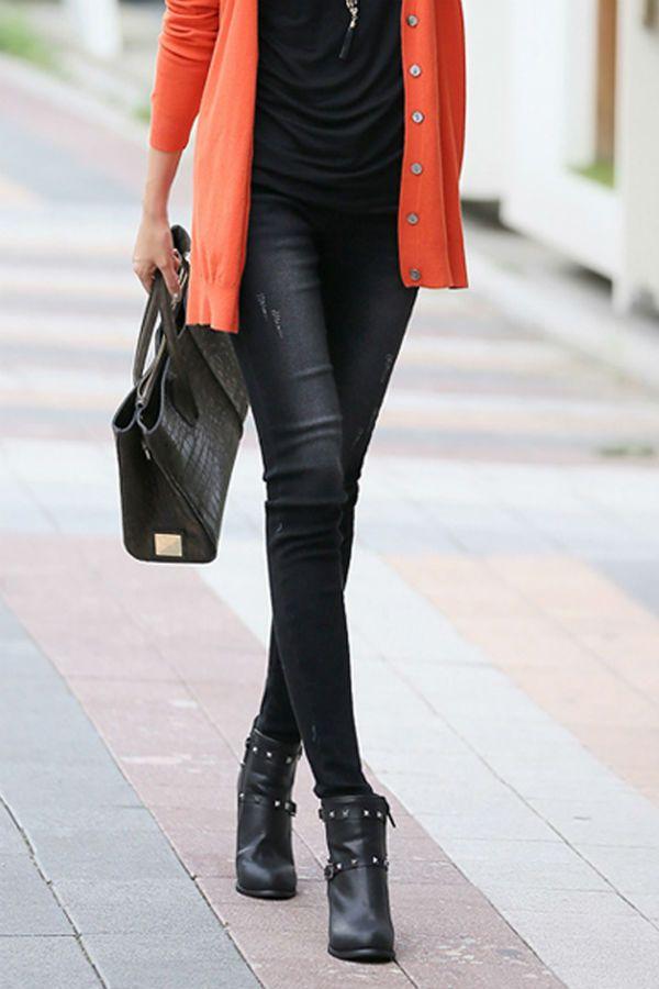 Женские черные джинсы фото