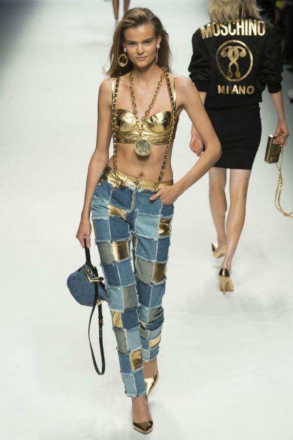 Женские джинсы со вставками фото