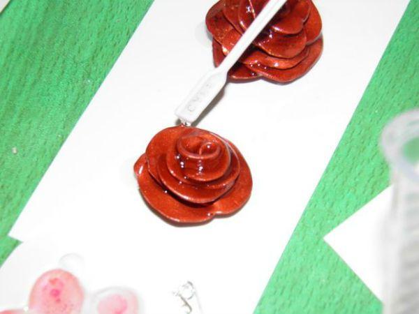 Покрываем розу лаком фото