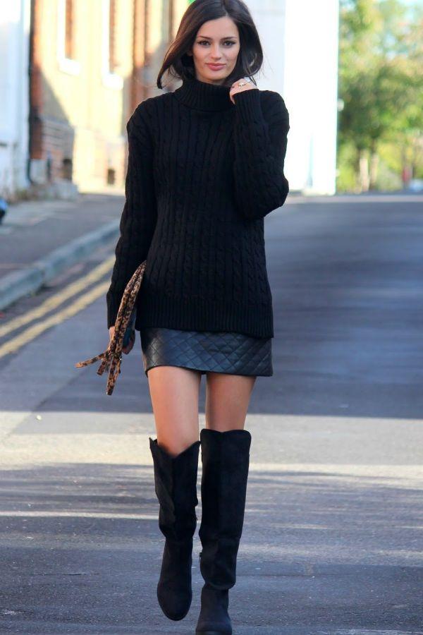 Черный свитер фото
