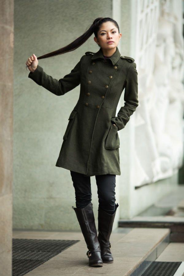 Пальто-шинель фото