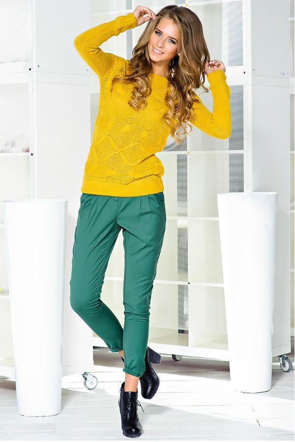 Желтый свитер фото
