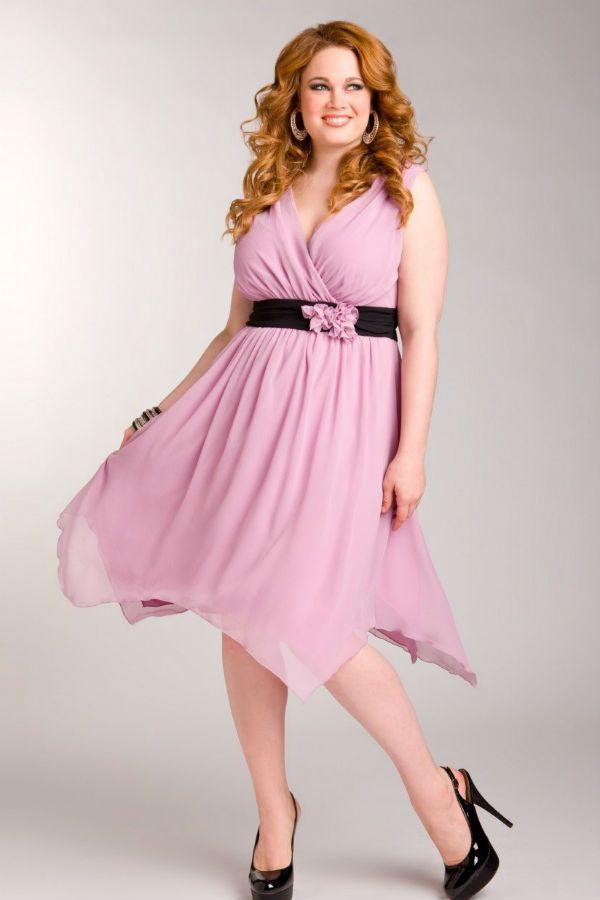 Коктейльное платье для полных фото