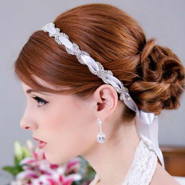 Свадебная прическа с повязкой фото