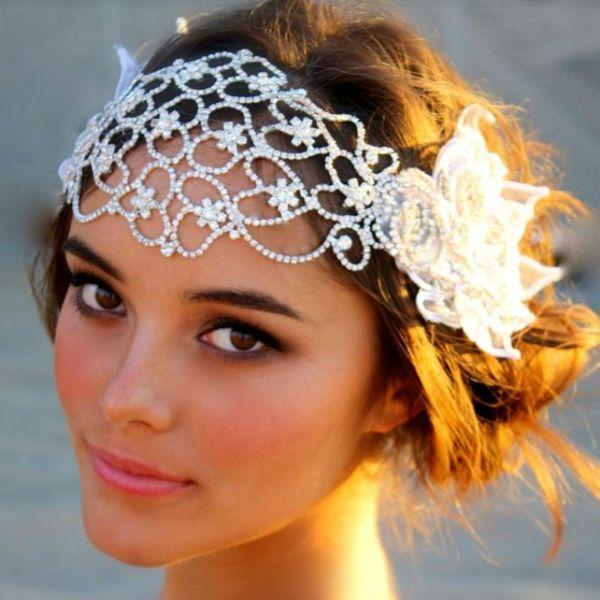 Свадебная повязка на голову фото