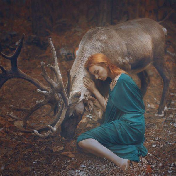 Съемка в лесу фото