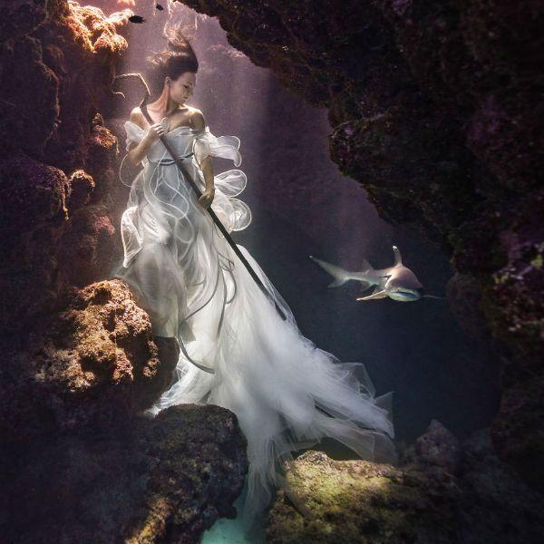 Съемка под водой фото